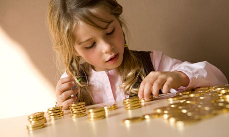 child counting money